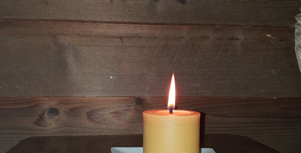 7cm Beeswax Pillar Candle