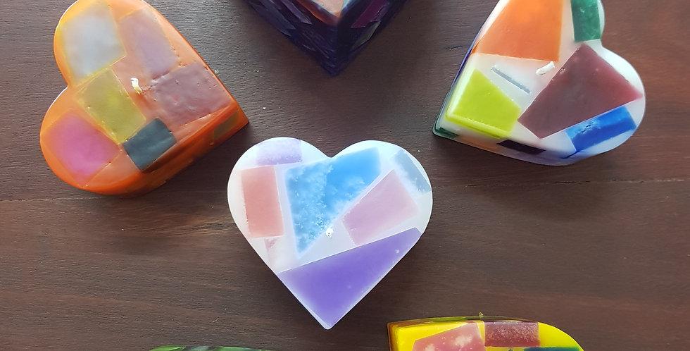 Handmade Heart Shaped Candle