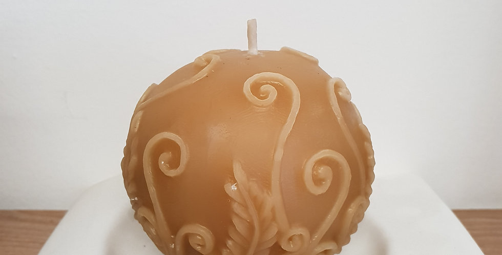 Beeswax Orb Candle