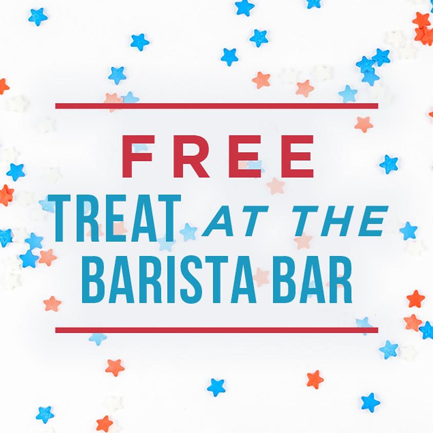4th of July Treats at the Barista Bar