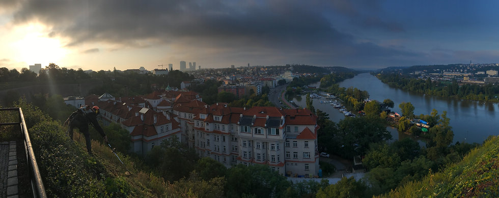 Výškové práce Praha - Vyšehrad, práce ve výškách, práce na laně,