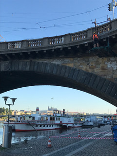 Údržba Palackého mostu