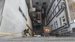 Oprava omítky a instalace bodců proti holubům