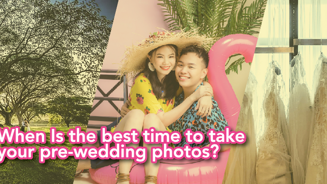 WHEN IS THE BEST TIME TO TAKE YOUR PRE-WEDDING PHOTOS?