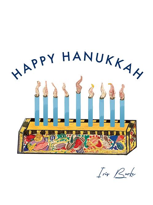 Hanukkah Cards by Iris Burke