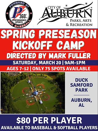 Auburn Spring Preseason Kickoff Camp NEW