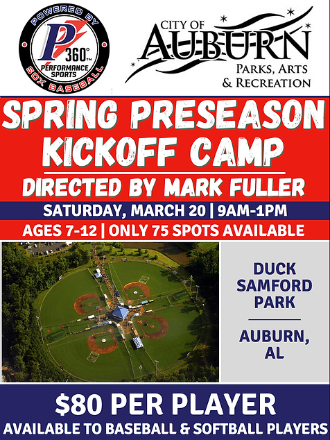 Auburn Spring Preseason Kickoff Camp NEW
