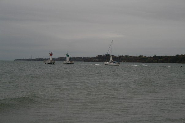 Leaving Frenchman's Bay on October 26, 2007