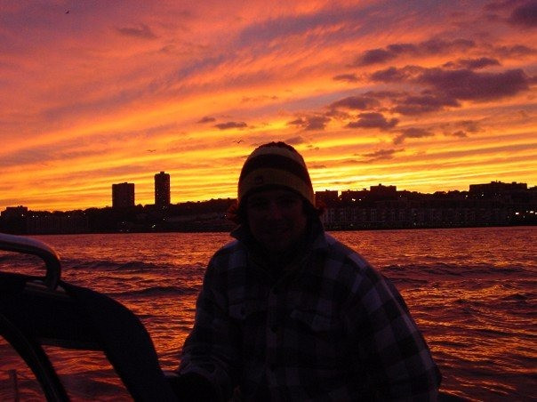 Sunset on the Hudson in NYC