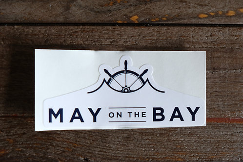 "3.5"" x 2"" May on the Bay Sticker"