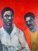 Painting - Dutch School 'Two Men'