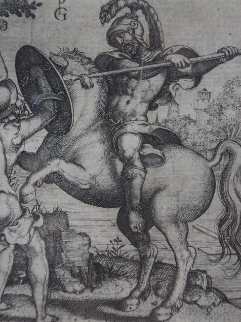 Engraving - Pencz 'Horatius Cocles...'