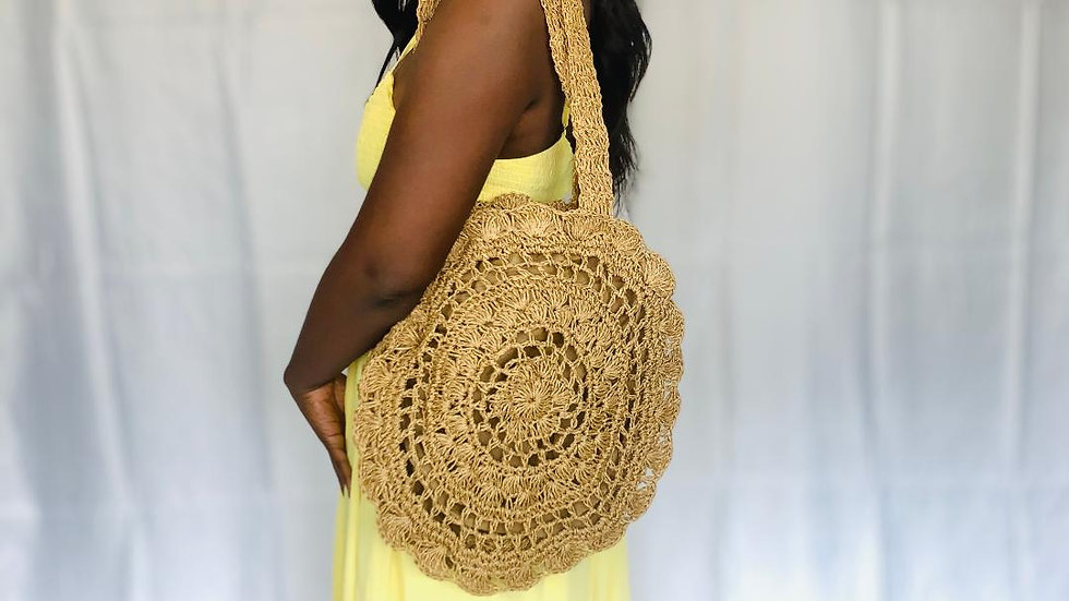 """Bag Lady"" Straw Purse"