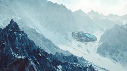 Spaceship on Alien Planet