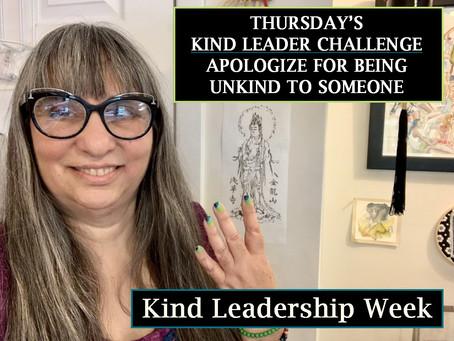 Thursday Kind Leadership Week Challenge