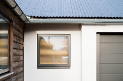 garage window in externally insulated render