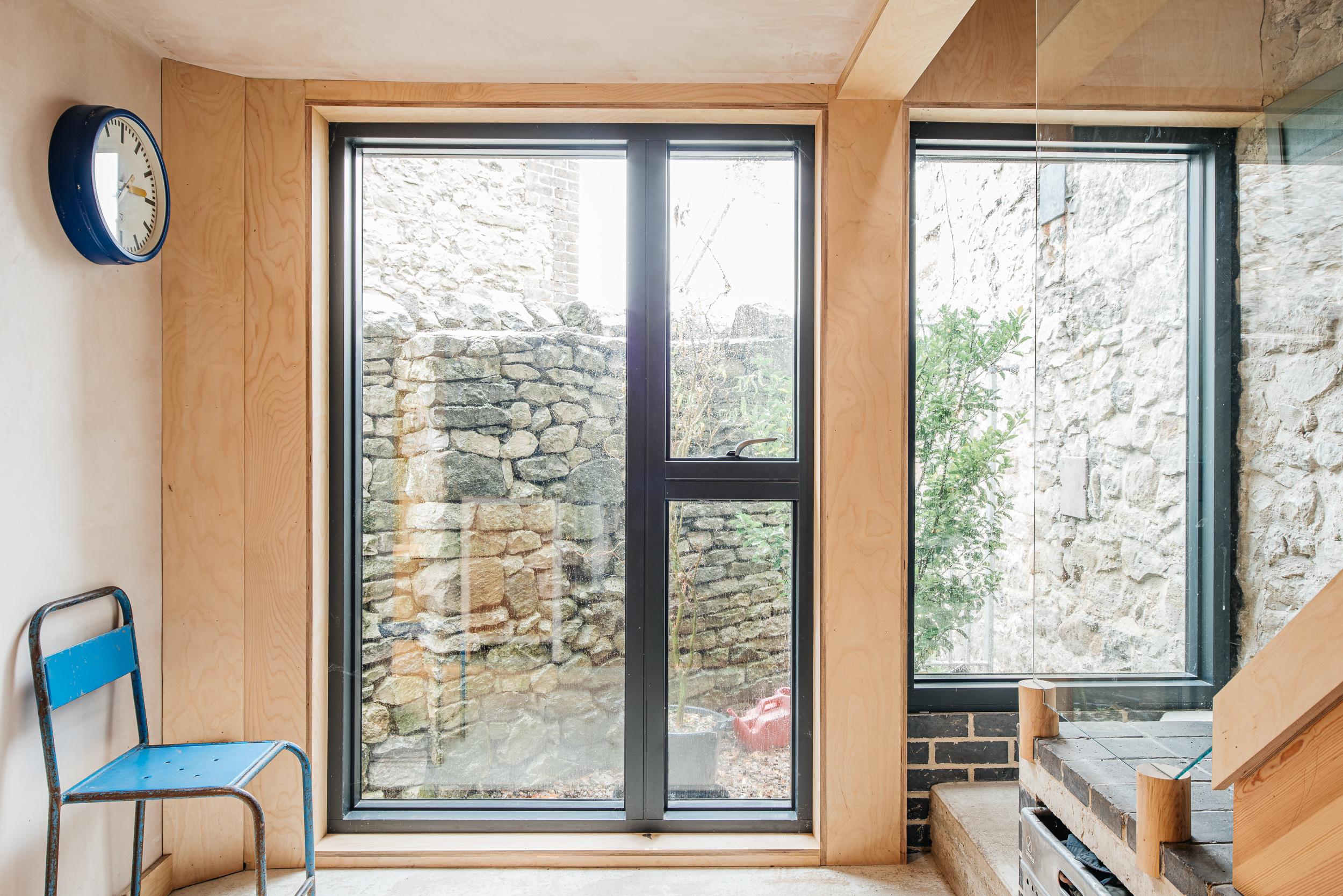 South facing glazing