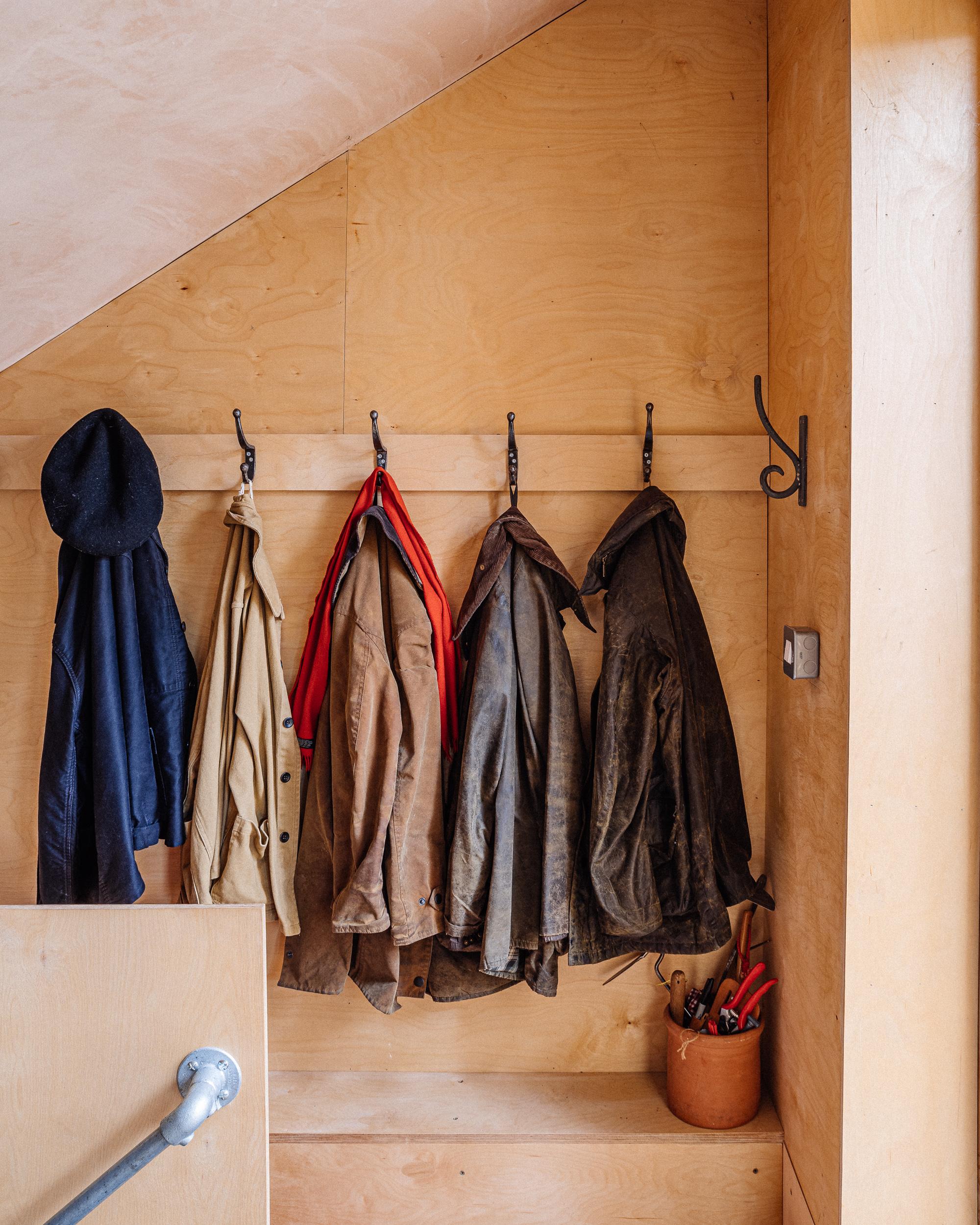 Cloak room space in plywood