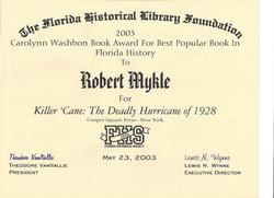 Florida Historical Society Award