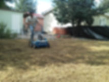 Hydroseeding and overseeding Durango, CO by Lupine Lawn Care.