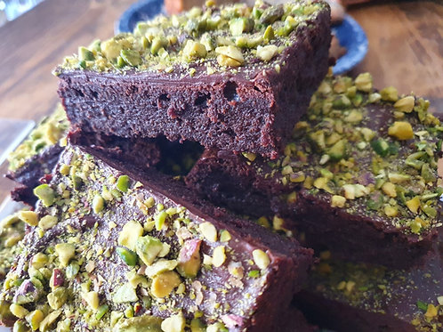 Chocolate & Pistachio Brownie - 4x