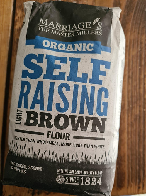 Marriage`s Organic Self Raising Light Brown Flour 1kg
