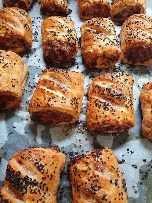 Sausage Rolls - Sun-blush Tomato & Smoked Cheese & Pork