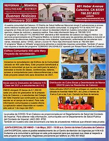 SPRING 2021 NEWSLETTER SPANISH HMHD READ