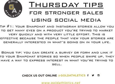 INTRODUCING: Thursday Tips for Stronger Sales using Social Media