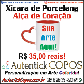 0012-Autentick Copos - XÍCARA DE PORCELA