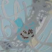 Dedicated II, Acrylic, mixed media on canvas
