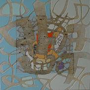 Eponymous II, Acrylic, mixed media on canvas, 30x30 inches