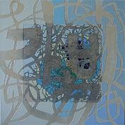 reflective, Acrylic, mixed media on canvas,86.5x86.5cm