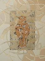 Individuation, Acrylic,mixed media on canvas, 48x36inch