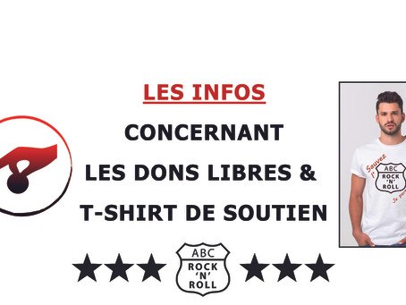 INFOS - SOUTIENS (DONS & T-shirts) - ABC ROCK N ROLL asbl