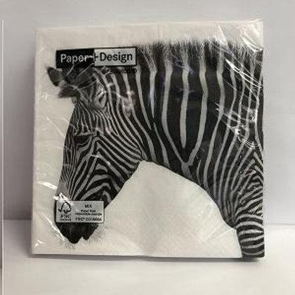 Designer Napkins Zebra– 20 units