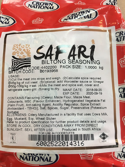 "1kg Crown National ""SAFARI"" Biltong seasoning"