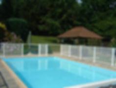 Barrière de sécurité piscine aluminium