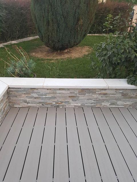 Lames de terrasse bois composite grise