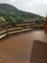 Lames de terrasse bois composite grise directe usine