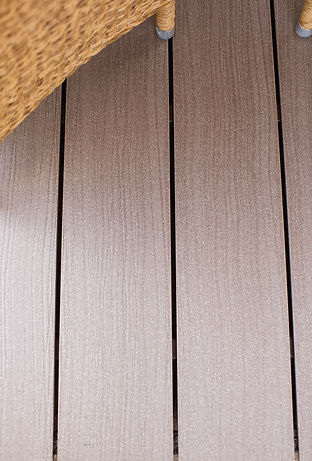 Lames de terrasse bois composite marron