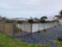 Barrière de sécurité bois aluminium