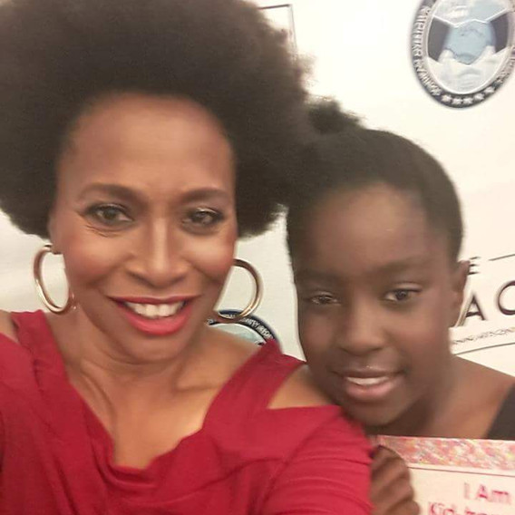 CEO Delphine with American Actress (The mother of Hollywood) Ms. Jenifer Lewis