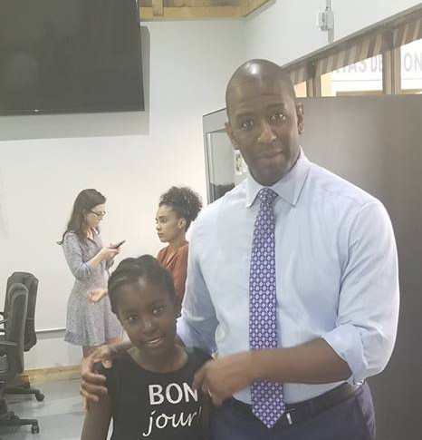 CEO Delphine with Mayor of Tallahassee Andrew Gillum