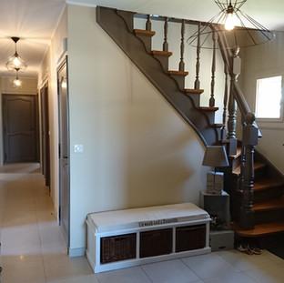 Peinture escalier et hall d'entrée
