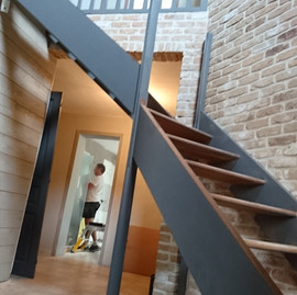 Transformation d'une cage d'escalier ( en cours travaux)