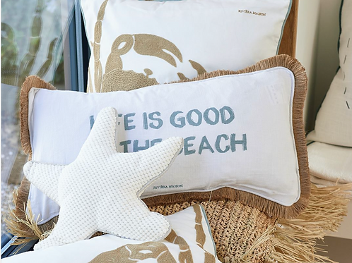 Coussin Life is Good at The Beach