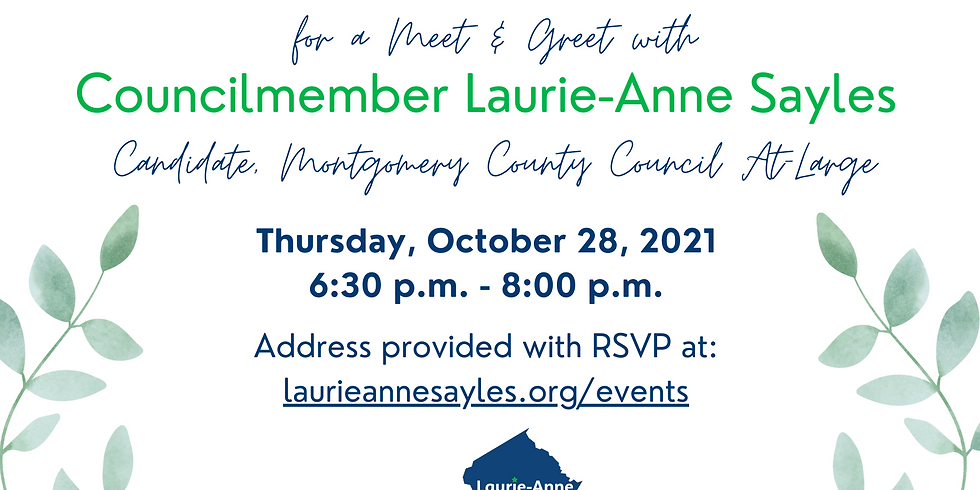 Meet and Greet with Laurie-Anne, Beth Tomasello, and Mayor Jeffrey Slavin