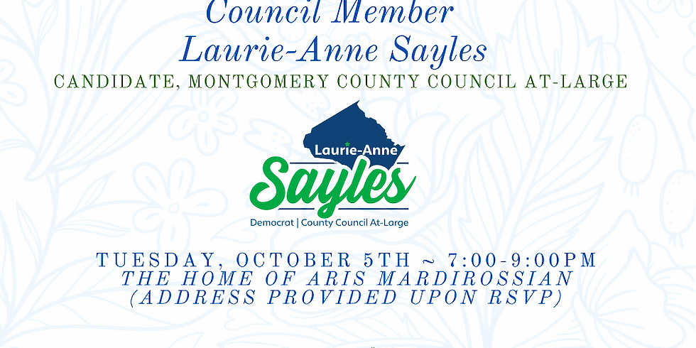 Reception for Councilmember Laurie-Anne Sayles