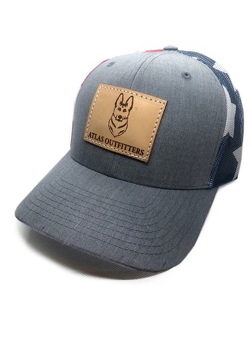 Leather Patch Flag Hat